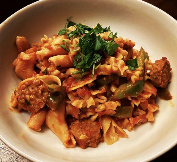 "Vegan Italian ""Sausage"" Pasta"